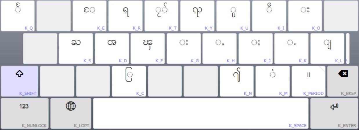 တႆး Shan Keyboard Help
